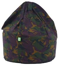 Child Size Army Camo Camouflage Bean Bag With Beans By Bean Lazy