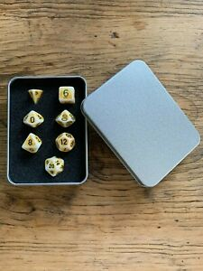 DND Dice 7pcs Polyhedral Gift Set (Ancient Gold)RPG Dungeons And Dragons D20