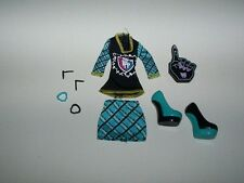 Monster High Frankie Stein Ghoul Spirit Clothes Complete Outfit with Jewelry +