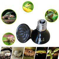 25-100W Black Emitter Lamp Ceramic Brooder Infrared Light Reptile Incubator Heat