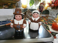 Publix Thanksgiving The Pilgrim Pair Salt and Pepper Shakers Nib