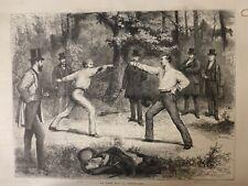 1875 Ui Fechten Duell Grenze Nr. 2
