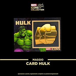 Black Gold Marvel Hulk card icons - panini collection avengers rara - Esclusiva