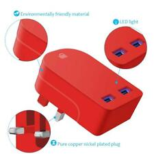 Ameego travel fast Speed Dual USB  Foldable Universal 3A wall plug charger red