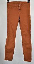 J Brand 811 Terra Cotta Brown Mid Rise Skinny Twill Jeans 25 Womens USA