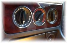 D audi a4 b5 CHROME anneaux pour Ventilateur Interrupteur-Acier inoxydable poli