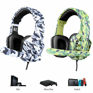 3.5mm Gaming Headset With Mic LED Backlit USB for PC Laptop Mac PS4 Xbox One S X