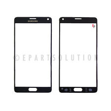 Samsung Galaxy Note 4 N910 Front Glass Outer Lens Touch Screen Cover Black USA
