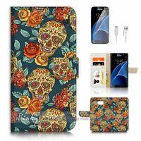 ( For Samsung Galaxy S7 ) Case Cover P2548 Sugar Skull