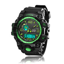 OHSEN Mens Military G Chronograph Digital Light Shock Green Quartz Wrist Watch