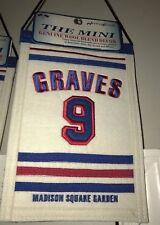 ADAM GRAVES NEW YORK RANGERS WOOL RETIREMENT NIGHT BANNER #9 GRAVY 94 CUP CHAMPS