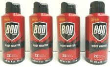(4) Bod Man Most Wanted Caffiene Boosted Men Body Fragrance Scented Spray 4 Oz