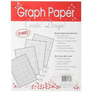 """Crafter's Helper 8½""""x11"""" Needlework Graph Papers 40pcs"""