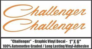 "Dodge Challenger ONE PAIR Graphic Vinyl Decals R/T HEMI 1"" X 6"" Free Shipping"