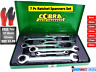 7pc Ratchet Spanner Set Metric Combination Wrench 8-19mm 8-13