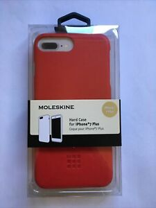 MOLESKINE PREMIUM HARD CASE FOR IPHONE 7+/8+ RED SHOCKPROOF COVER BRAND NEW