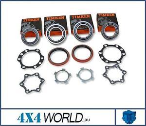 For Toyota Landcruiser VDJ76 VDJ78 VDJ79 Series Wheel Bearing Kit (2) Frt w/ABS