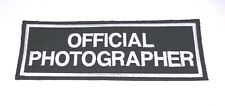 OFFICIAL PHOTOGRAPHER BACK PATCH