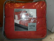 new Apt. 9 Ripple full / queen size Comforter Set Orange CORAL comfort apt apt9
