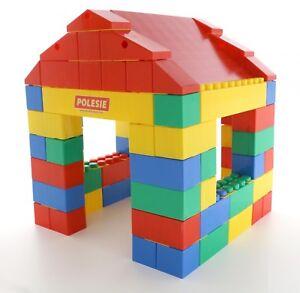 Kids 134pc XXL Building Bricks Blocks Childrens Construction Blocks House Castle