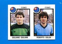 CALCIATORI PANINI 1982-83 Figurina-Sticker n. 428 -GIULIANI-SOLDA COMO-New
