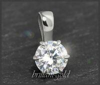 Diamant 585 Gold Brillant Anhänger 0,71ct Solitär, River D, Si1; Diamantanhänger