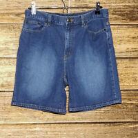 Lauren Jeans Co. Size 8 Ralph Lauren Denim Bermuda Shorts Cotton Blend Women's