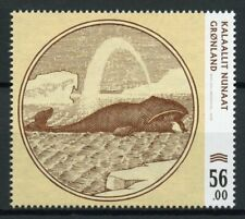 More details for greenland marine animals stamps 2019 mnh old banknotes pt iii whales 1v set