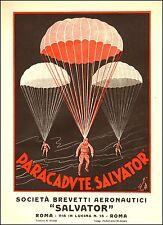 PUBBLICITA' 1928 PARACADUTE SALVATOR BREVETTO AEREONAUTICA PARACADUTISTI FRERI