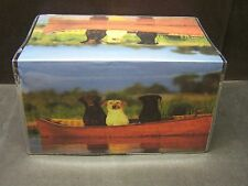 BLACK LAB,YELLOW LAB, CHOCOLATE LAB BEST OF FREINDS    VINYL CHECKBOOK COVER