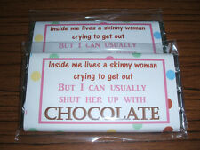 Milk Chocolate 100grm Bar with novelty wrappers 'skinny woman'