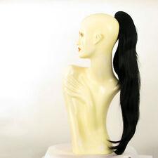 Postiche queue de cheval femme longue lisse 70 cm noir ref 5 en 1b