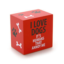 I Love Dogs decorative 2.75in plaque block by Enesco Our Name is Mud 4035976