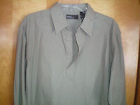 NWT mens size L olive green MARC EDWARDS l/s shirt free shipping