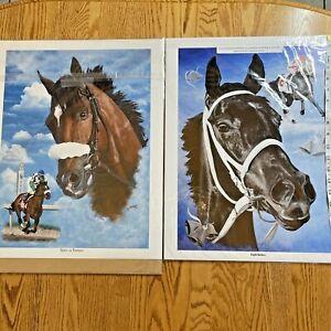 DeLong '08 Horse Racing Prints - Eight Belles & Spirit of Baroaro