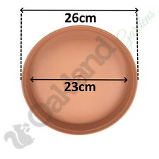 30 x 26cm Plant Pot Saucer Drip Tray Terracotta Plastic Deep High Sided Strong