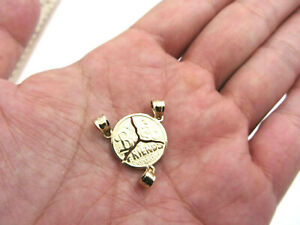 10k Yellow Gold Fine Jewelry Solid Three Best Friends Pendant