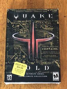 Quake III Gold PC Activision Box w/ Q 3 Arena & Team Arena Sealed Read