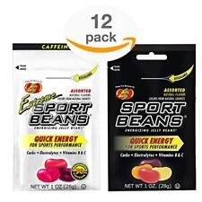 Jelly Belly Sport Beans - Assorted and Extreme Assorted With Caffeine - 12 Pack