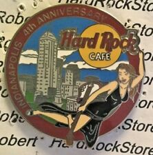 2003 HARD ROCK CAFE INDIANAPOLIS 4TH ANNIVERSARY CITY SKYLINE & SEXY GIRL LE PIN