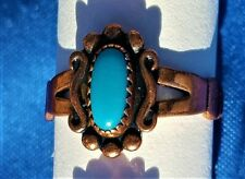 Hand Crafted Copper Ring~GORGEOUS ELEGANT Blue Stone~Copper Healing Effects