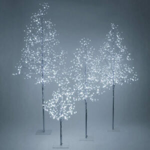 3', 4', 5', 6', 7' Silver Fairy Light Tree, Cool White LED