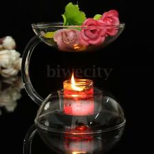 Romantic Glass Crystal Candlestick Candle Holder Oil Heater Glim Table Decor