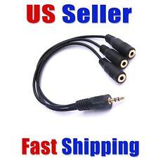 "3.5mm (⅛"") TRS 3 Way Splitter Stereo Headphone Stereo Audio  USA Fast Ship!"