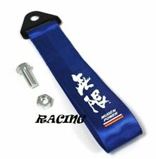 Universal JDM Blue MUGEN POWER Racing Drift Rally Car Towing Strap Belt Hook