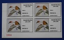 Mexico (MX02) 1994 Mexico Waterfowl Stamp (MNH) plate # block