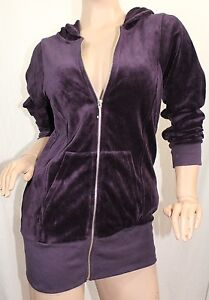 Juicy Couture Women's Dressage Velour Basics Hoodie Color Purple Small Petit NWT