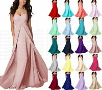Formal Long Chiffon Wedding Bridesmaid Dresses Party Ball Prom Gown Dress 6-18