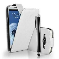 Cover CUSTODIA in PELLE per SAMSUNG GALAXY S3 Flip+Penna/Flip leather case WHITE