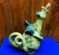 Whimsical ~ Dragon Oil Candle Made of Pottery Figurine Statue Made in the Usa